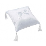 Lillian Rose Elegant Satin Ring Pillow White