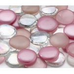 Lillian Rose Glass Signing Stones (Approx 45) - Pink mixed