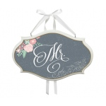 Lillian Rose Mr. Sm Oval Sign - Black