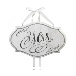 Lillian Rose Mrs. Sm Oval Sign - White