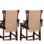 Lillian Rose Set of 2 Burlap Chair Covers - Blank