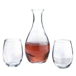 Lillian Rose Decanter & 2 Stemless Wine Glasses