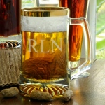 JDS Personalized Sports Mug: Gold Rimmed, 25 oz.